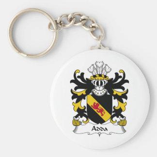 Escudo de la familia de Adda Llavero Redondo Tipo Pin