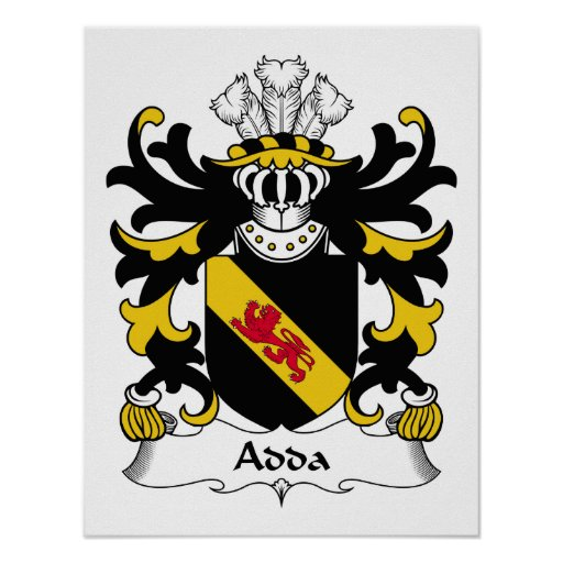Escudo de la familia de Adda Póster