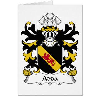Escudo de la familia de Adda Tarjeta De Felicitación