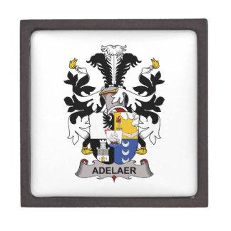 Escudo de la familia de Adelaer Caja De Regalo De Calidad