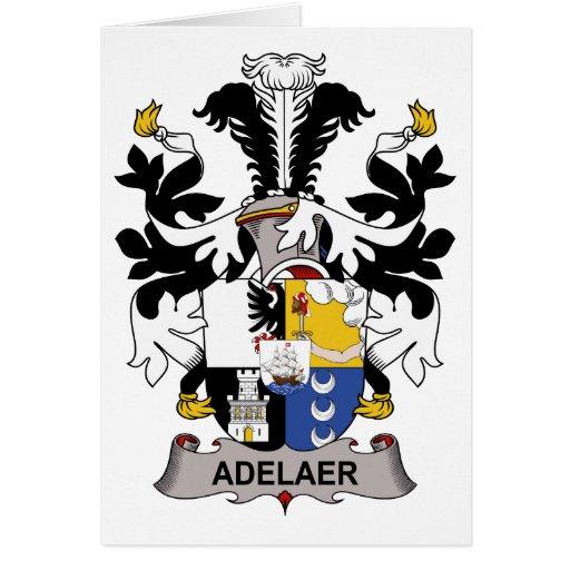 Escudo de la familia de Adelaer Felicitación