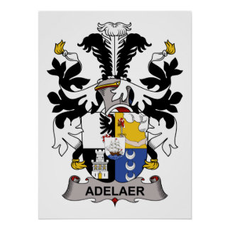 Escudo de la familia de Adelaer Posters