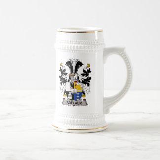 Escudo de la familia de Adelaer Tazas De Café