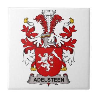 Escudo de la familia de Adelsteen Azulejo Cuadrado Pequeño