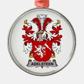 Escudo de la familia de Adelsteen Adorno Redondo Plateado