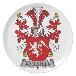 Escudo de la familia de Adelsteen Plato De Comida