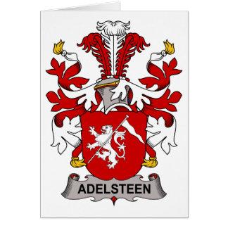 Escudo de la familia de Adelsteen Tarjeta De Felicitación