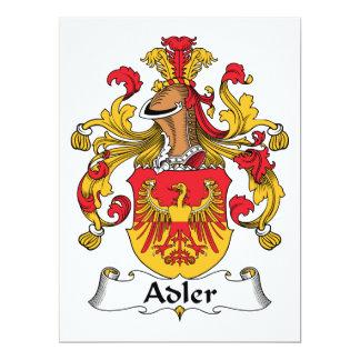 """Escudo de la familia de Adler Invitación 6.5"""" X 8.75"""""""