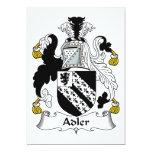 Escudo de la familia de Adler Invitación 12,7 X 17,8 Cm