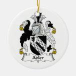 Escudo de la familia de Adler Ornamento De Navidad