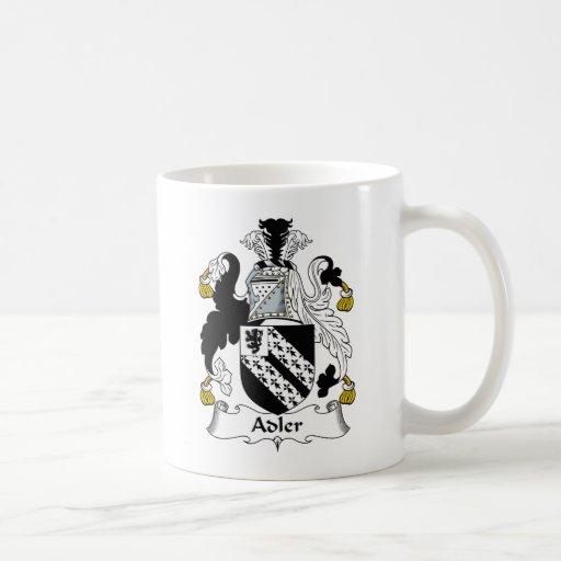 Escudo de la familia de Adler Tazas De Café