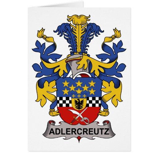 Escudo de la familia de Adlercreutz Tarjeta De Felicitación