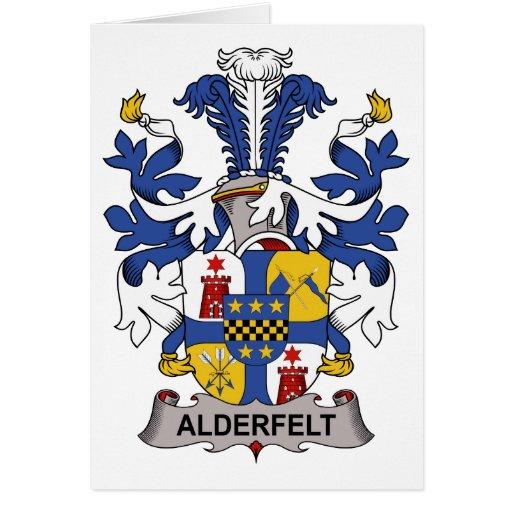 Escudo de la familia de Adlerfelt Tarjetón