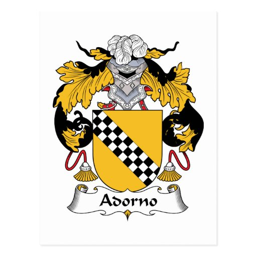Escudo de la familia de Adorno Postal