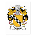 Escudo de la familia de Adorno Tarjetas Postales