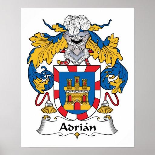 Escudo de la familia de Adrian Póster