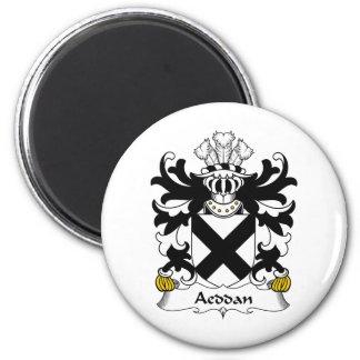 Escudo de la familia de Aeddan Imán Redondo 5 Cm