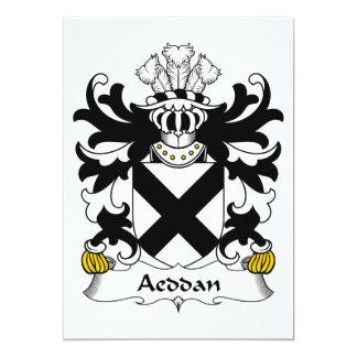 """Escudo de la familia de Aeddan Invitación 5"""" X 7"""""""