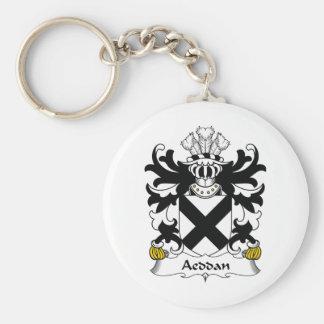 Escudo de la familia de Aeddan Llaveros Personalizados