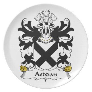 Escudo de la familia de Aeddan Plato De Comida