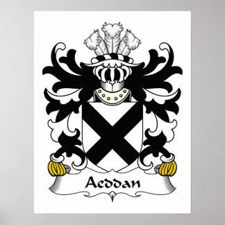 Escudo de la familia de Aeddan Posters