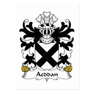 Escudo de la familia de Aeddan Tarjeta Postal