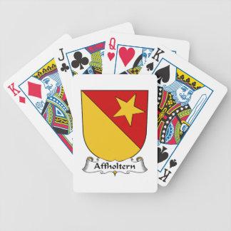Escudo de la familia de Affholtern Cartas De Juego