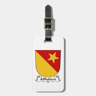 Escudo de la familia de Affholtern Etiquetas De Equipaje