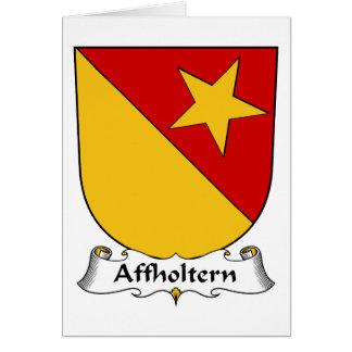 Escudo de la familia de Affholtern Felicitación