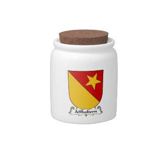 Escudo de la familia de Affholtern Jarra Para Caramelo
