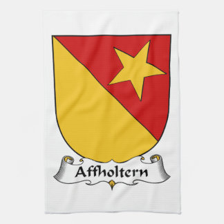 Escudo de la familia de Affholtern Toalla De Cocina