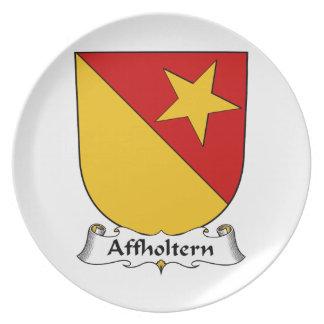 Escudo de la familia de Affholtern Plato