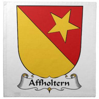 Escudo de la familia de Affholtern Servilleta De Papel