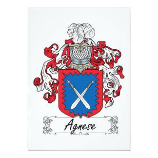 """Escudo de la familia de Agnese Invitación 5"""" X 7"""""""