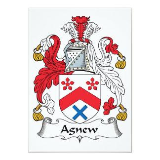 """Escudo de la familia de Agnew Invitación 5"""" X 7"""""""