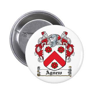 Escudo de la familia de Agnew Pin Redondo 5 Cm