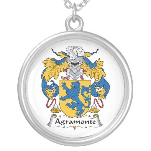 Escudo de la familia de Agramonte Colgante Redondo