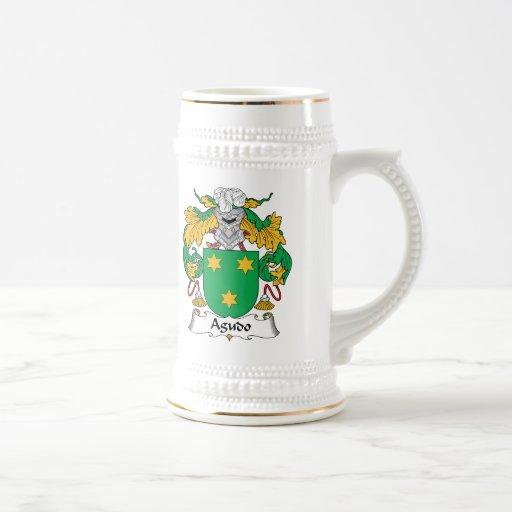 Escudo de la familia de Agudo Taza De Café