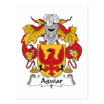 Escudo de la familia de Aguiar Postal