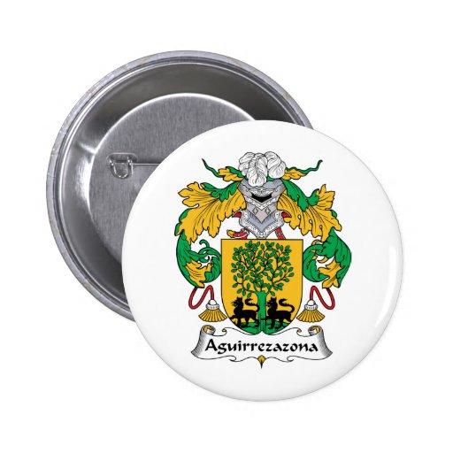 Escudo de la familia de Aguirrezazona Pin Redondo 5 Cm
