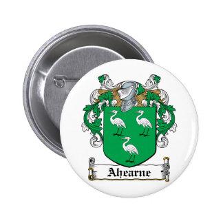Escudo de la familia de Ahearne Pin Redondo 5 Cm