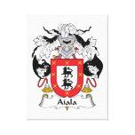 Escudo de la familia de Aiala Lienzo Envuelto Para Galerias