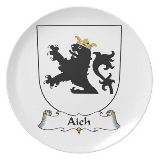 Escudo de la familia de Aich Plato Para Fiesta