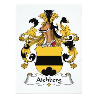 """Escudo de la familia de Aichberg Invitación 6.5"""" X 8.75"""""""