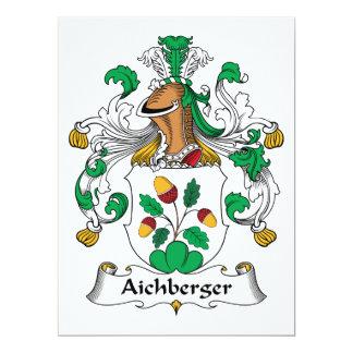 """Escudo de la familia de Aichberger Invitación 6.5"""" X 8.75"""""""