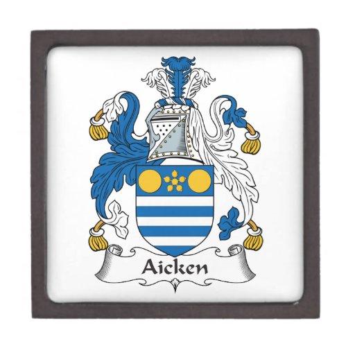 Escudo de la familia de Aicken Cajas De Regalo De Calidad