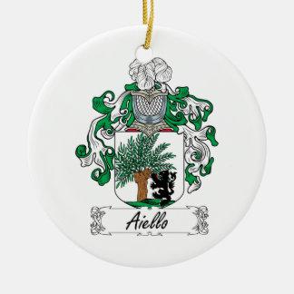 Escudo de la familia de Aiello Ornamentos De Navidad