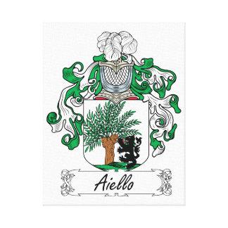Escudo de la familia de Aiello Lona Estirada Galerias