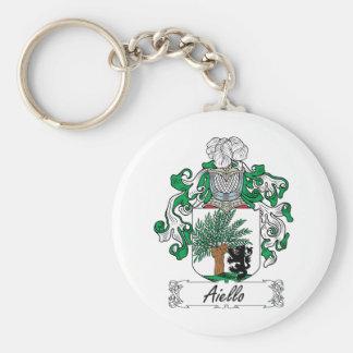 Escudo de la familia de Aiello Llavero Personalizado