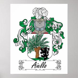 Escudo de la familia de Aiello Poster